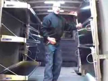 Fold-up Shelving for Sprinter Van